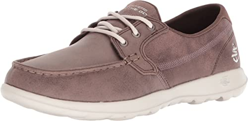 Skechers Performance Wohommes GO Walk Lite Boat chaussures,marron,9 M US
