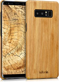 kalibri Wood Case Compatible with Samsung Galaxy Note 8 DUOS - Ultra Slim Natural Hard Wooden Protective Cover
