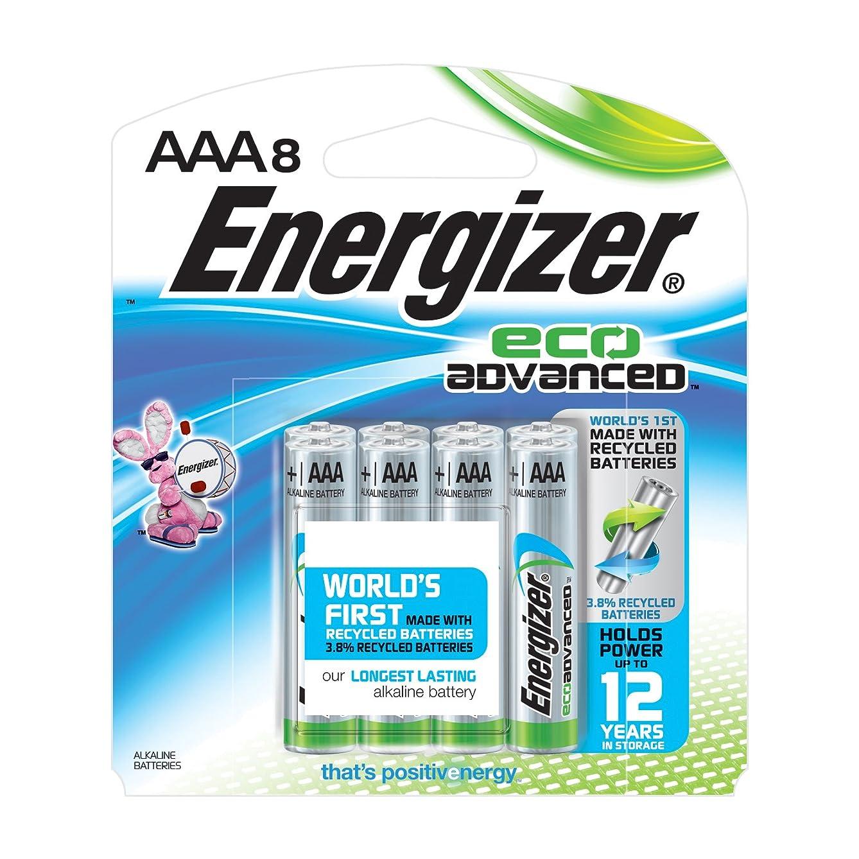 Energizer EcoAdvanced AAA Batteries, Energizer's Longest-Lasting Alkaline (8-Pack)