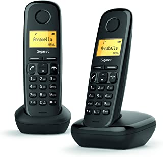 Gigaset A170 Duo. Easy to use, Twin Digital Cordless Telephone with Illuminated Display & Hearing-aid-compatible (Pack of ...