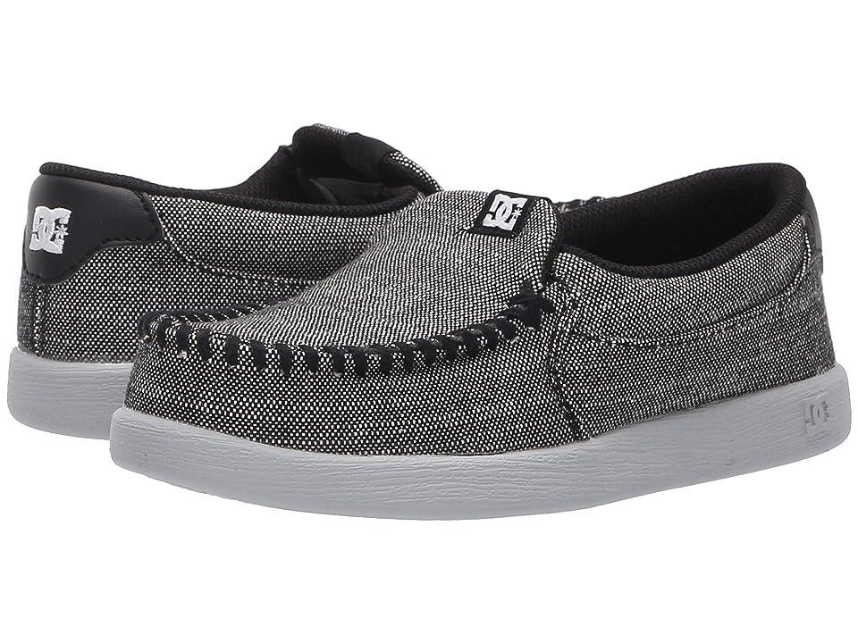 DC Kids Villain TX SE (Little Kid/Big Kid) (Grey Resin Rinse) Boys Shoes