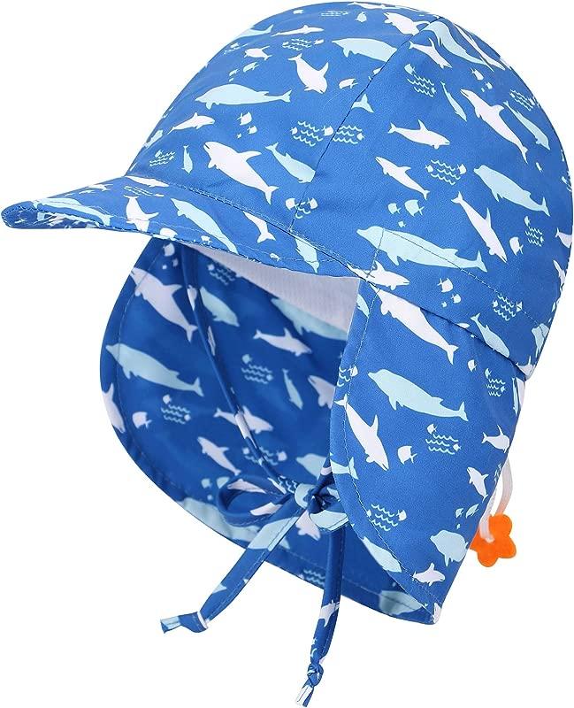 Livingston Kid S SPF 50 UV Sun Ray Protective Safari Hat W Neck Cover