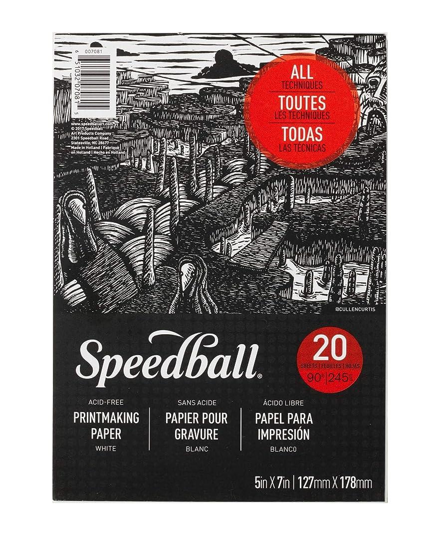 Speedball 7081 Printmaking Paper Pad, White