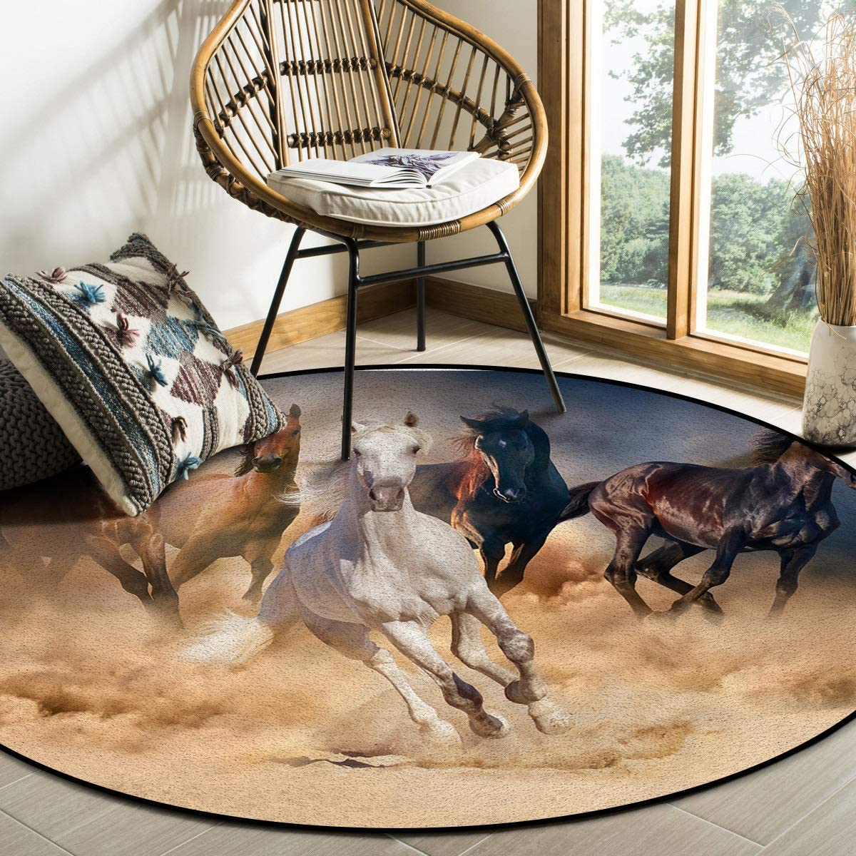 OUR DREAMS Round Area Rugs Don't miss the campaign R Non-Slip Crawling Mat Seasonal Wrap Introduction Children