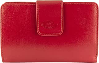 Mancini Leather Goods Inc Men's Top Grain Vegetable Tanned Leather RFID Secure Clutch Wallet