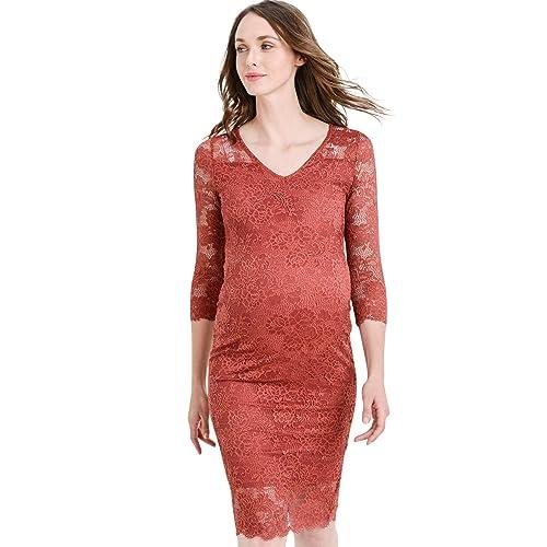bdf35fc8aaf Hello MIZ Women s Maternity Floral Lace Knee Length Bodycon Dress