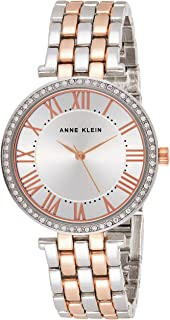 Anne Klein Womens Quartz Watch, Analog Display and Stainless Steel Strap AK3131SVRT