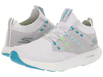 SKECHERS Go Run 7 (Gray/Blue) Women