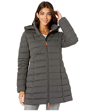 Save the Duck Angy 9 Hooded Coat (Charcoal Grey Melange) Women