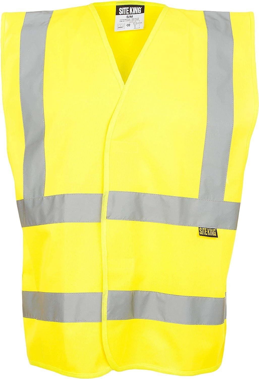 Men/'s Hi Viz Orange and Yellow Multi Pockets Work wear Trouser Size UK S-5XL
