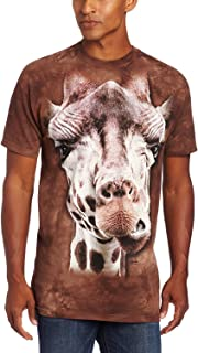 Mountain Giraffe Adult T Shirt Brown