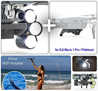 Professional Release and Drop Plus Device with LED Light Searchlight Bundle for DJI Mavic 1 Pro/Platinum, for Drone Fishing, Bait Release, Search & Rescue, Payload Delivery, Fun Activities