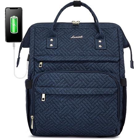LOVEVOOK Laptop Rucksack Damen 15,6 Zoll, Schulrucksack Daypack wasserdichte, Business Rucksäcke mit Laptopfach und Anti-Diebstahl Tasche, für Reisen Herren, Dunkelblau