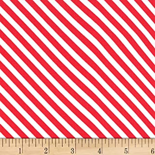 Michael Miller Home For The Holidays Sugar Stripe Peppermint Fabric by the Yard