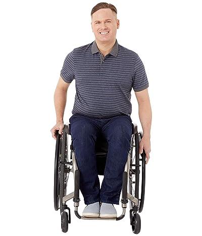 Seven7 Adaptive Adaptive Slim Straight Jeans w/ Magnetic and Micro Velcro(r) Closure in Blue Rinse Men