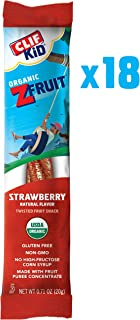 CLIF KID ZFRUIT – Organic Fruit Rope – Strawberry Flavor – (0.7 Ounce Rope, Lunch Box Snacks, 18 Count)