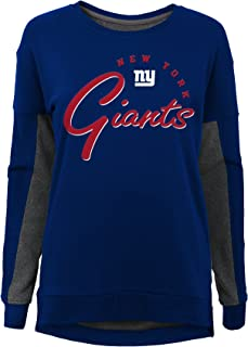 NFL New York Giants Youth Boys in The Mix Long Sleeve Crew Neck Top Dark Royal, Youth Large(14)