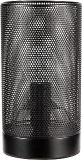 Pauleen 48100 Black Lampe Max 20W E14 Mesh Treillage Noir Luminaire à Poser 230V Métal
