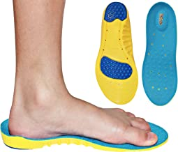 Children's Athletic Memory Foam Insoles For Arch Support and Comfort for Active Children ((24 CM) Kids Size 2-6)