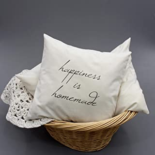 """Happiness is homemade - 16""""X 16"""" pillow envelope"""