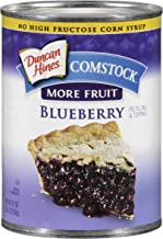 Comstock More Fruit Pie Filling, Blueberry, 21 Ounce (Pack of 12)