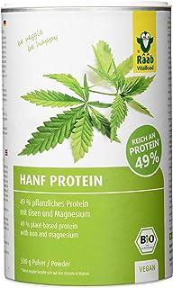 Raab Vitalfood Bio Hanf-Protein 500 g, rein pflanzlich, Protein-Pulver mit 49 % Protein, Hanf-Mehl, Eiweiß-Shake, vegan, glutenfrei, laborgeprüft