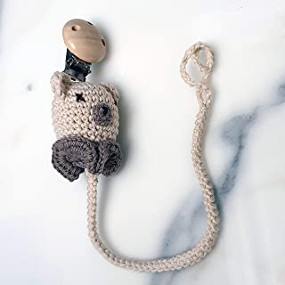 Ranimar Crochet Pacifier Chain Holder for Newborn Baby%100 Cotton