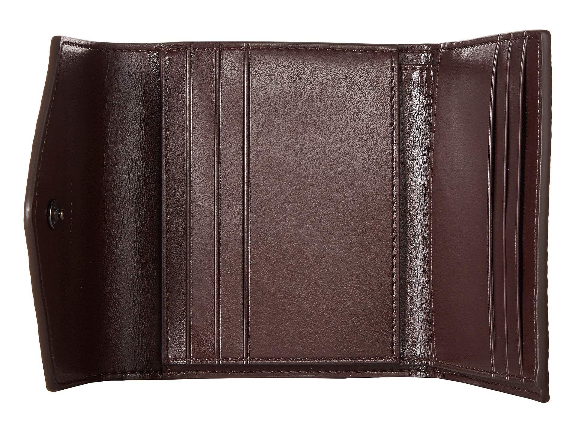 Wallet Platinum Metallic Canvas Color Block tan Coach Small Signature Coated V5 0gwvxBq