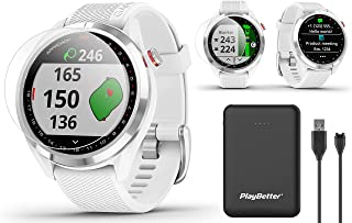 $314 » Garmin Approach S42 GPS Golf Watch Bundle   Includes PlayBetter Portable Charger & HD Screen Protectors   Color Screen, 4...