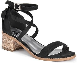 Muk Luks Women's Sasha Sandals, Black, 6 M US