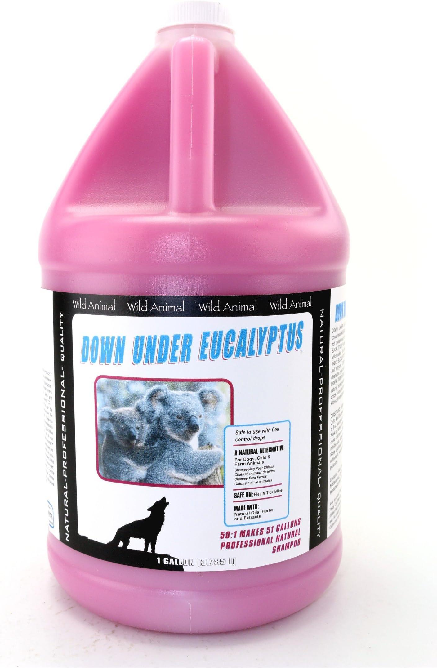 Amazon Com Wild Animal Down Under Eucalyptus 50 1 Shampoo Gallon Pet Supplies