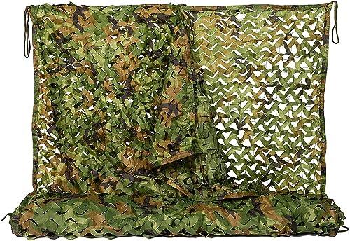 Filet Camo Visière Extérieure GR Jungle Mode Camouflage Net Camping Caché écran Solaire Extérieur Tente de Camouflage Oxford Multi-Taille en Option (Taille  4  5m) Armée Camo Filet (Taille   5  6m)