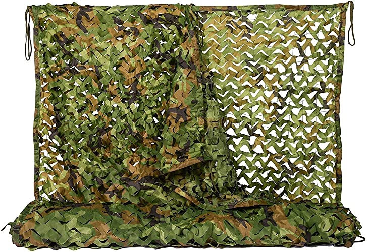 Filet de camouflage parasol multi-usage Jungle Mode Camouflage Net Camping Caché écran Solaire Extérieur Tente de Camouflage Oxford Multi-taille En Option (Taille  4  5m) Bache AI LI WEI
