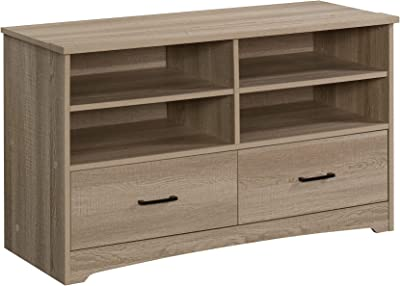 "Sauder Beginnings TV Stand, 46"", Summer Oak Finish"