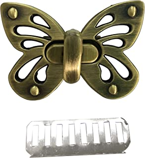 LGEGE Butterfly Shape Purses Lock Clutche Closure, Purse Twist Turn Lock, Brussed Bronze Tone, 1 Set