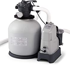 Intex Krystal Clear 2150 GPH Sand Filter Pump & Saltwater System with E.C.O. (Electrocatalytic Oxidation) for Above Ground Pools, 110-120V with GFCI (Renewed)