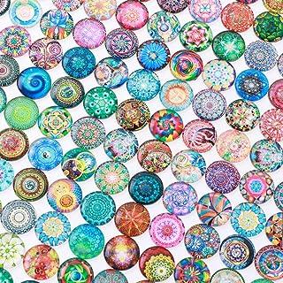 Healifty 200pcs ronde de carreaux de mosaïque mosaïque en verre Pièces consommables pour DIY Craft 14mm mixte
