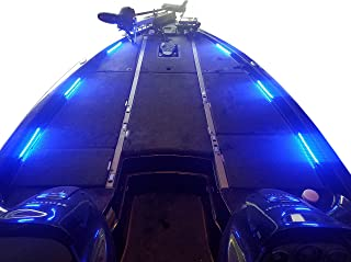 Fishing Vault Boat Deck Lighting Kit with 6 Premium Waterproof Marine Grade LED Light Strips, Multiple Colors Available