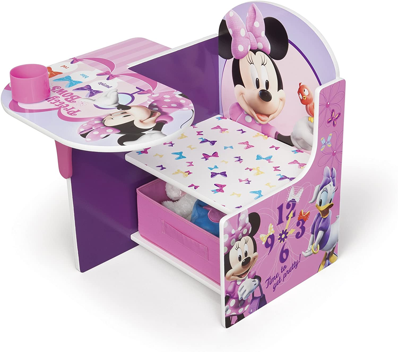 Disney Minnie Mouse Chair Desk with Storage