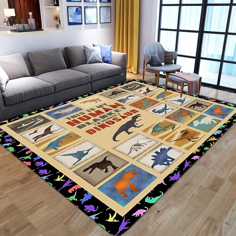 Cartoon Area Rugs Dinosaur Pattern Carpets Max 65% OFF Large Rug Room Max 87% OFF Living