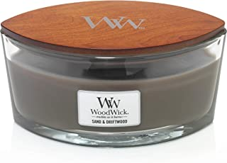 WoodWick Ellipse Scented Candle, Sand & Driftwood