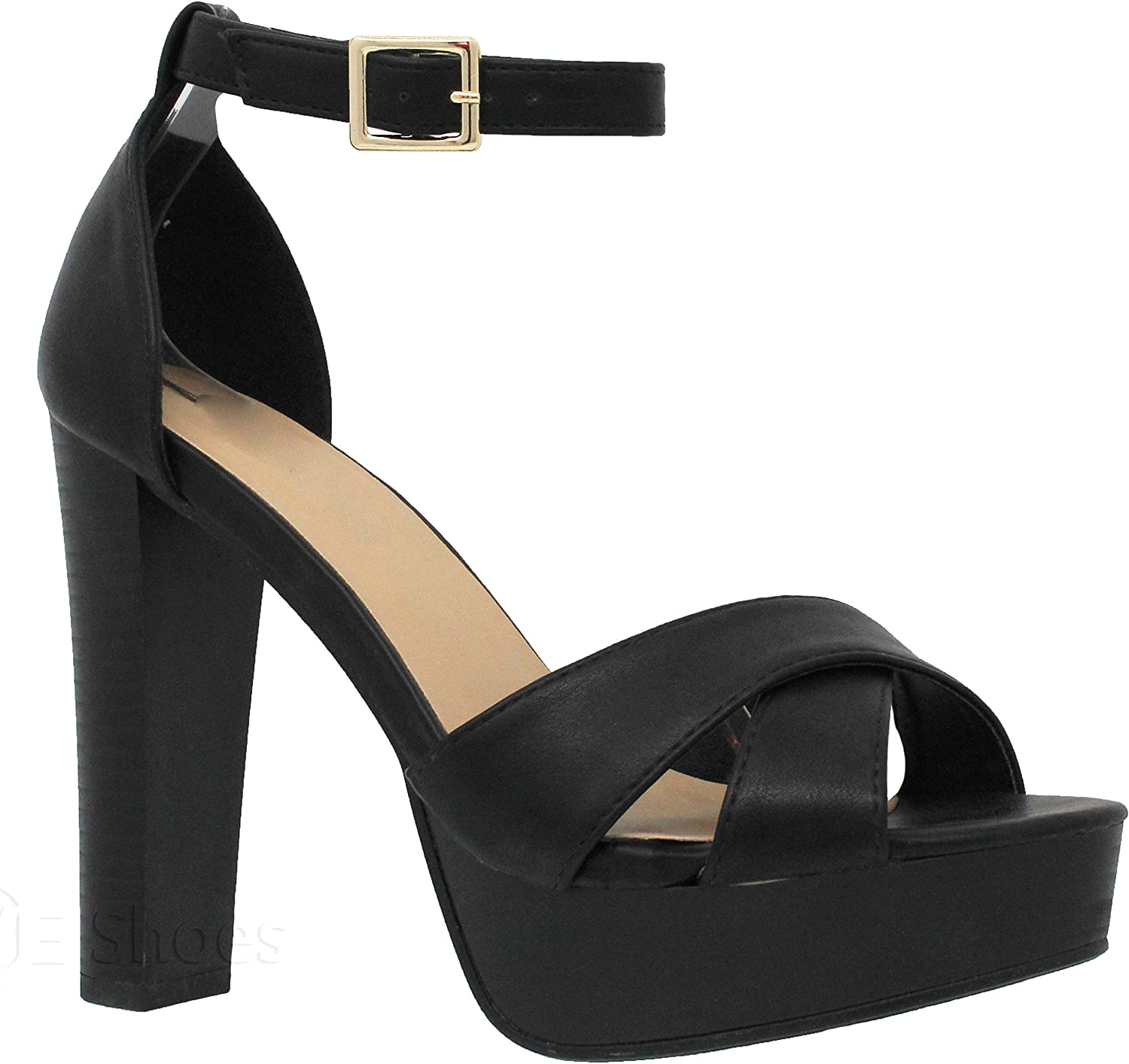 MVE shoes Women's Platform Ankle Strap High Heel-Formal Party Block Dress Heel-Open Toe Heeled Sandal
