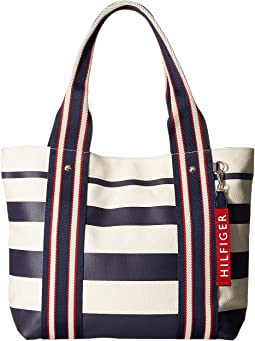 Classic Tommy Shopper Painted Stripe Tote