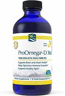 Nordic Naturals ProOmega-D Xtra Liquid - Fish Oil, 1950 mg EPA, 975 mg DHA, 1000 IU Vitamin D3, High-Intensity Support for Cardiovascular, Neurological, and Immune Health*, Lemon Flavored, 8 oz.