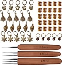 Oulensy 8pcs Set mezclaron la Costura de la Herramienta de Mano del cord/ón de Agujas de Tejer Ganchillo Ganchos de Metal Plantilla Kit Agujas de Tejer Craft
