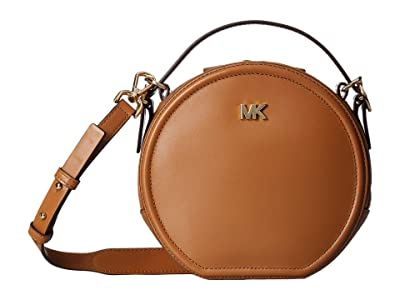 MICHAEL Michael Kors Delaney Medium Top-Handle Canteen Messenger (Acorn) Handbags