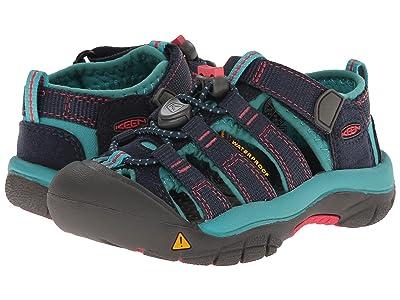 Keen Kids Newport H2 (Toddler/Little Kid) (Midnight Navy/Baltic) Girls Shoes