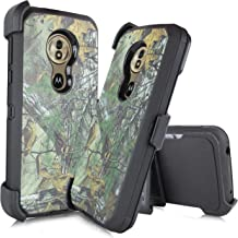 Made for Motorola Moto G6 Forge/G6 Play 2018 Release (XT1922) [Four Layered Protection] Heavy Duty Defender Holster Armor Camo Case with Built in Screen Protector (Hunter Camo)