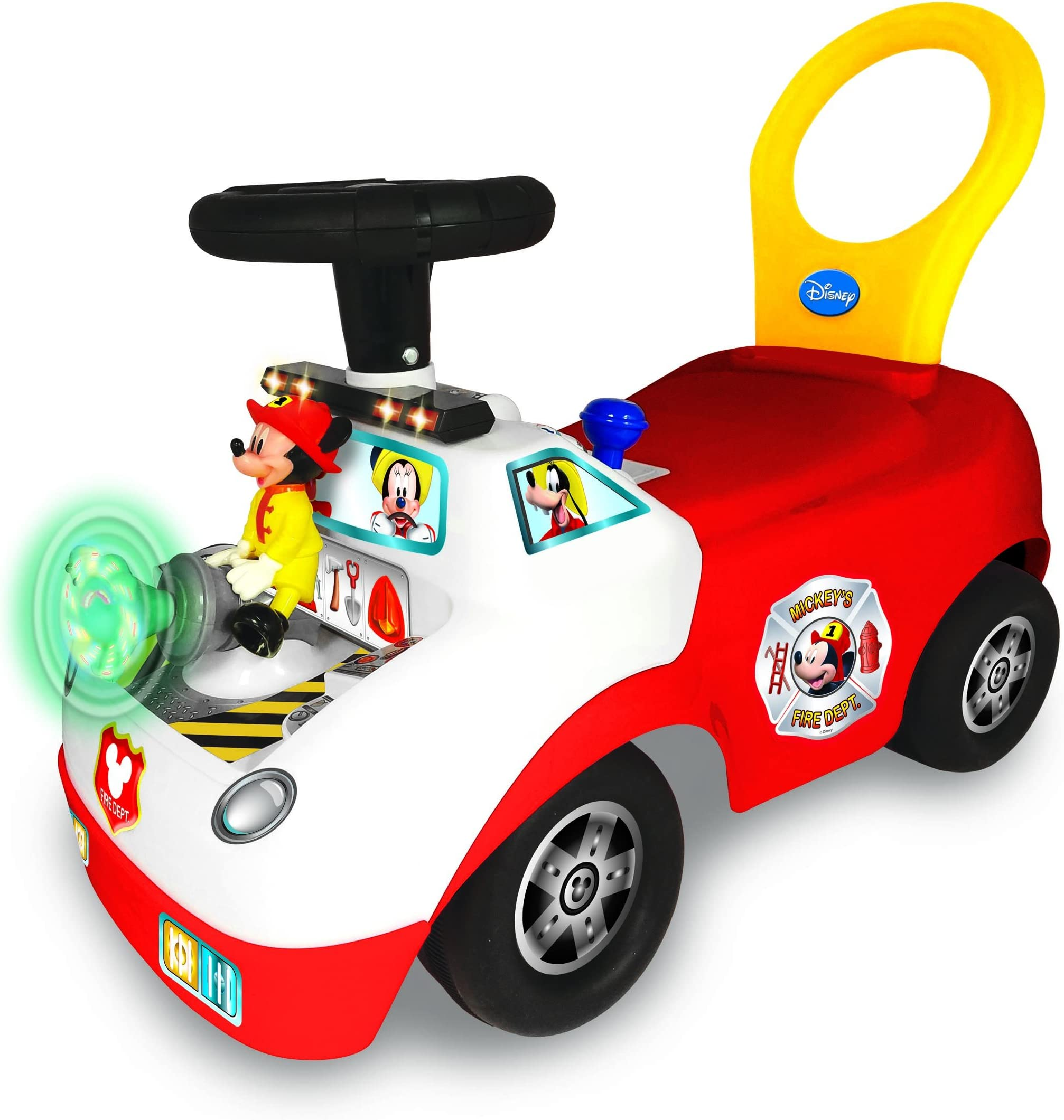 Kiddieland Disney Mickey Activity Fire Truck Ride-On