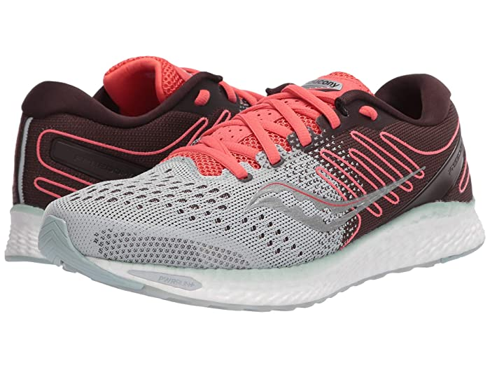 Saucony  Freedom 3 (Sky Grey/Coral) Womens Shoes